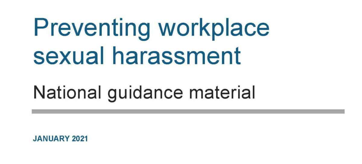 Odd sexual harassment guidance