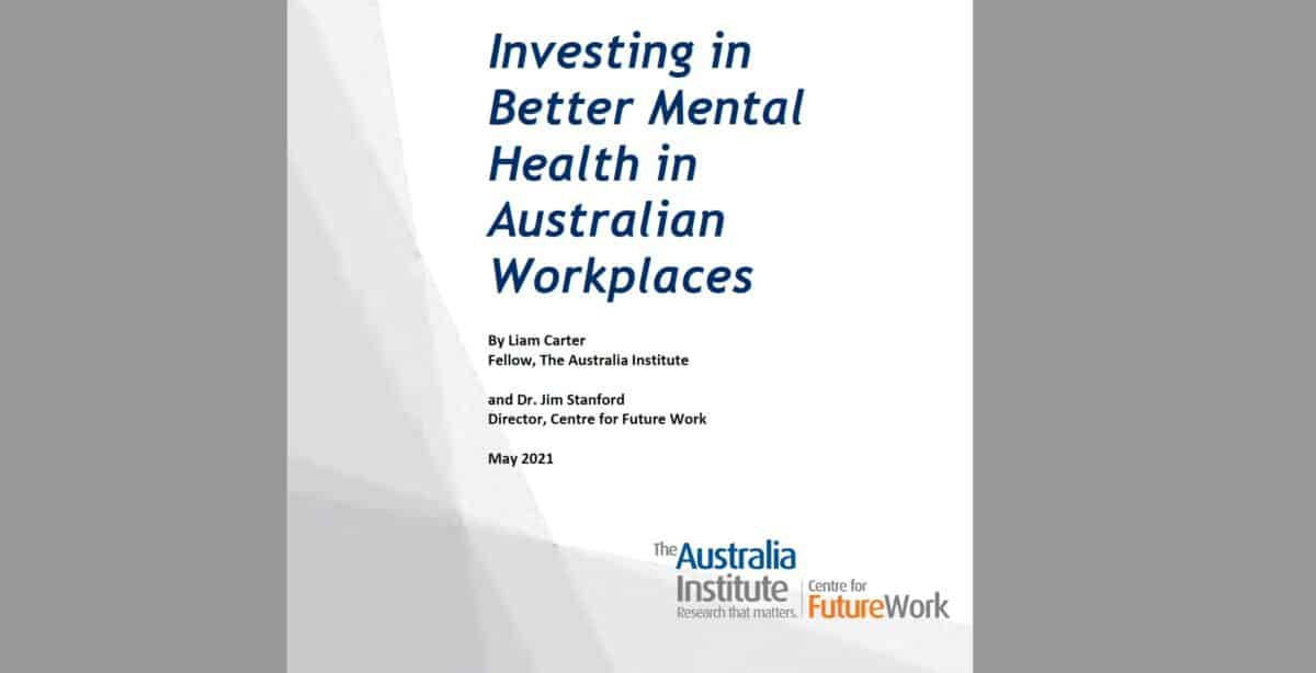 New workplace mental health info but no new strategy