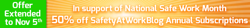 National Safe Work Month offer for SafetyAtWorkBlog