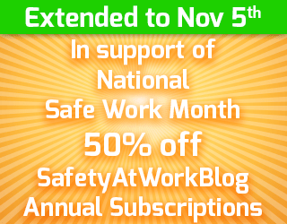 50% discount on SafetyAtWorkBlog subscriptions