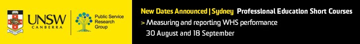 NEW Dates in Sydney! - Information about UNSW short course - Measuring & Reporting WHS Performance